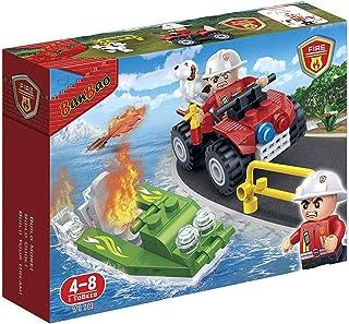 "Banbao 7118 ""Firemen Car and Boat"" Building Set"