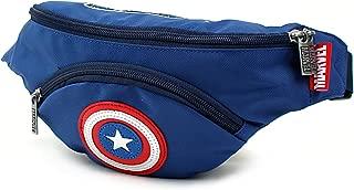 Marvel Avengers Captain America Shield Travel Hipsack Waist Fanny Pack Sling Bag Phone Wallet for Pre-Teen Kids Boys