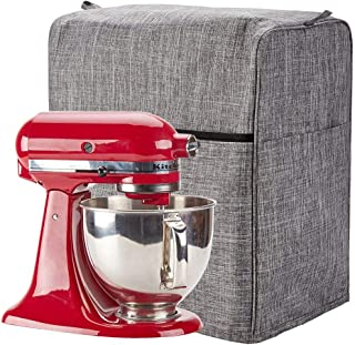 NICOGENA Stand Mixer Dust Cover with Pockets for Accessories Compatible with KitchenAid Tilt Head 4.5-5 Quart Grey
