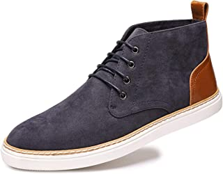 Men's Suede Ankle Chukka Boots Lace Up Casual Fashion Walking Shoes