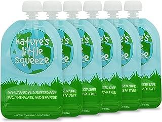 WeeSprout Double Zipper Reusable Food Pouches | 6 Pack 3.4 fl oz Size Pouches | Original