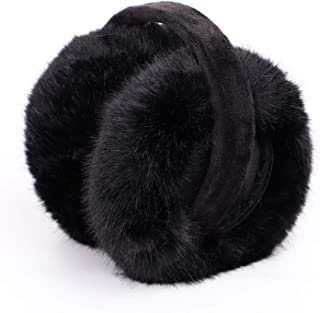 Fashion Earmuffs For Women Winter Earmuffs Warm Fur Ear Warmer Ear Cover For Girls Solid Color Cute Ear Warmer Soft Plush,Black