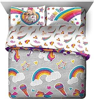 Jay Franco Nickelodeon JoJo Siwa Rainbow Sparkle 7 Piece Queen Bed Set - Includes Reversible Comforter & Sheet Set Bedding...