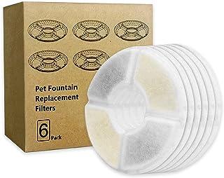 PewinGo Filtre Fontaine eau Chat, Filtre de Fontaine Triple Action [6 PCS] pour Remplacement de la Fontaine de Chat avec R...