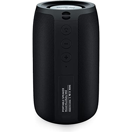 Bluetooth Speakers,MusiBaby Speaker,Outdoor, Portable,Waterproof,Wireless Speakers,Dual Pairing, Bluetooth 5.0,Loud Stereo,Booming Bass,1500 Mins Playtime for Home&Party Black