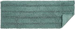uxcell 17 x 47 Inch Super Thick Soft Striped Shaggy Chenille Bath Mats Machine Washable Floor Bath Rugs for Bathroom, Non-...