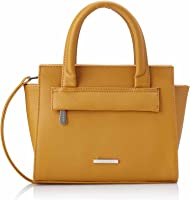 Club Aldo Faux Leather Front-Pocket Top-Handle Trapeze Crossbody Bag for Women