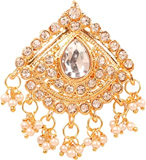 Touchstone New Indian Bollywood Impressive Style Fine Filigree Rhinestone Designer Bridal Jewelry Hair Accessory Jurapin i...