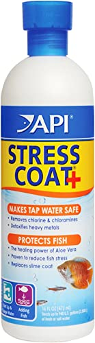 API Stress Coat Water Conditioner, Makes tap Water Safe, Replaces fish's Protective Coat Damaged by handling or Fish ...