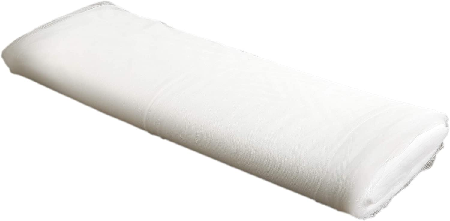 108'' store Apparel Grade Tulle Silk Nippon regular agency White Bolt 50 Fabric Yard by