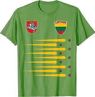 Lithuania Basketball Jersey Lietuva Flag Gift T-Shirt