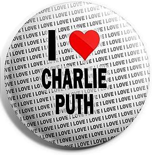 Grand badge I Love Charlie Puth – 75 mm – Cadeau – Anniversaire – Noël