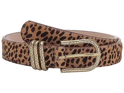 Leatherock Erin Belt (Hair Cheetah Tan/Black) Women