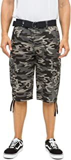 """RING OF FIRE Men's Horizon Messenger Belted 13"""" Inseam Twill Cargo Shorts Size 30 to 38"""