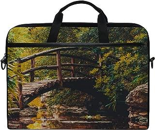 Rh Studio Laptop Bag Bridge River Austin Messenger Bag Case Sleeve for 14 Inch to 15.6 Inch with Adjustable Notebook Shoulder Strap