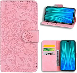 EUDTH Redmi Note 8 Pro Case, [3D Emboss Flower Pattern] Magnetic Flip Cover [ Card Slots & Stand ] Leather Wallet Case for...