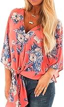 LUCA Summer Fashion Women V Neck Half Sleeve Printed Chiffon T-Shirt Loose Tops Blouses Beach Holiday