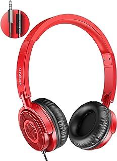 On Ear Headphones with Mic, Vogek Lightweight Portable Fold-Flat Stereo Bass Headphones..