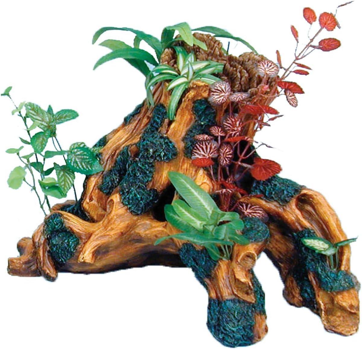 卓出 Penn-Plax Driftwood Gardens 情熱セール Ornament Tr