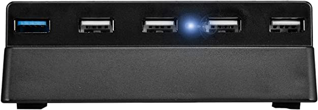 Liry Products PS4 Hub 5 Port USB 3.0 2.0 High Speed Expansion Hub Charger Adapter Controller Connector Splitter for Sony PlayStation 4 PS4 Gaming Console Accessories Black