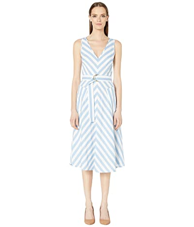 Kate Spade New York Deck Stripe Midi Dress (Blue Heron Multi) Women