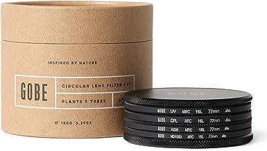 Gobe - Kit de Filtros para Objetivo 77 mm UV, Polarizado Circular (CPL), ND8, ND1000 (2Peak)