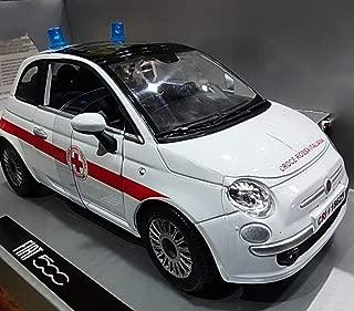 Fiat nuova 500 croce rossa italiana 1:24 forze dell/'ordine scala new ray