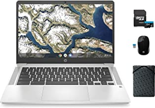 "$349 » HP Chromebook Laptop, 14"" FHD, Intel Celeron N4000 Processor, 4GB DDR4 RAM, 64GB eMMC, Webcam, Microphone, WiFi, Bluetooth..."