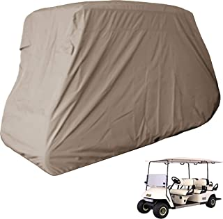 Deluxe 6 Seater Golf Cart Cover (Grey or Taupe), Fits E Z GO, Club Car, Yamaha Model
