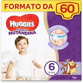 Huggies - Braguita pañal 60 unidades Taglia 6 violeta