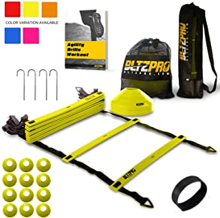 Bltzpro Agility Ladder Soccer Cones Kit- A Speed Training...
