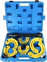 8MILELAKE Macpherson Strut Spring Compressor Kit Interchangeable Fork Coil Extractor Tool Set