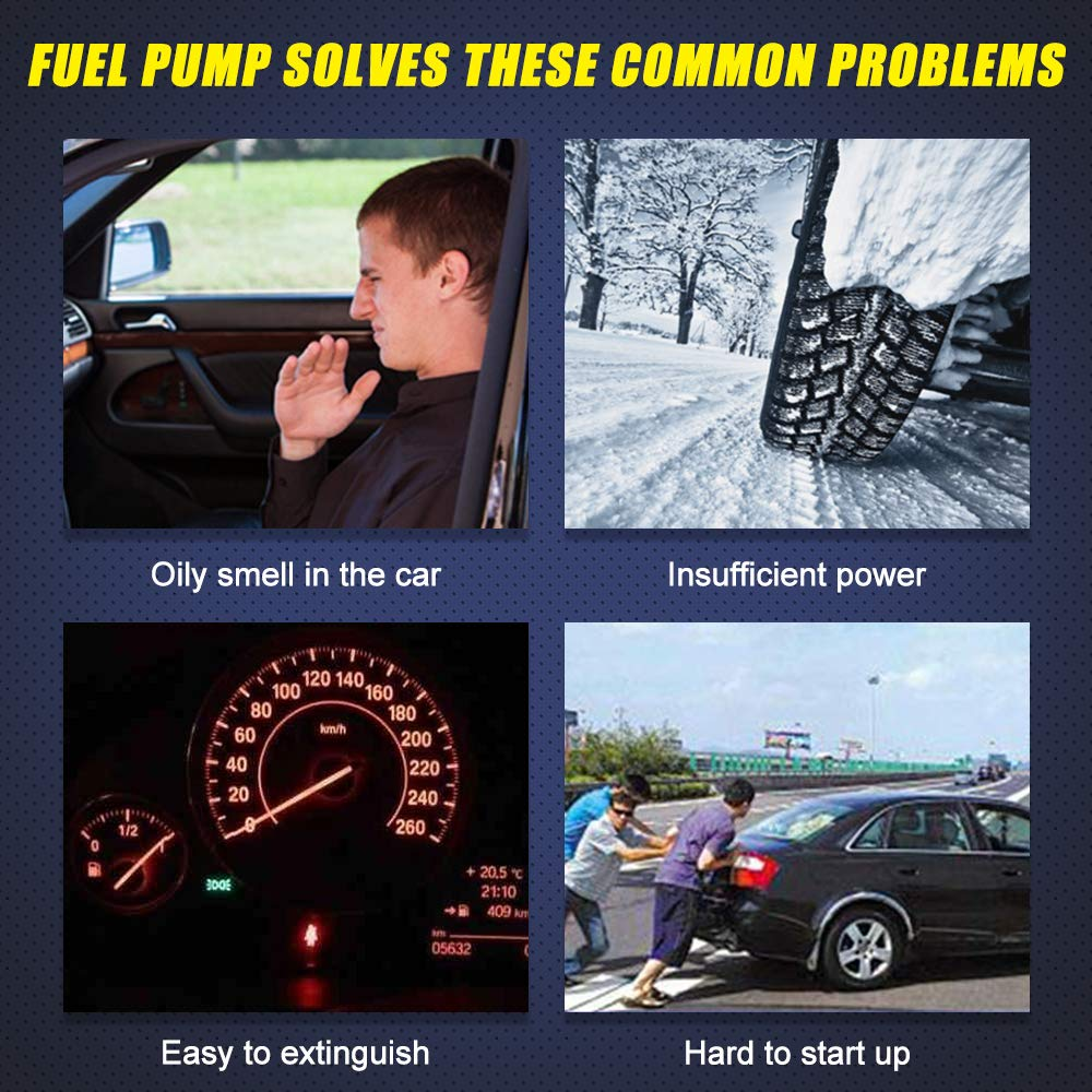Fuel Pump Compatible with Chevy Pickup Silverado GMC Sierra 1999 2000 2001 2002 2003 2004 4.3L 4.8L 5.3L 6.0L 8.1L w/ sending unit fuel pressure sensor replaces # E3500M
