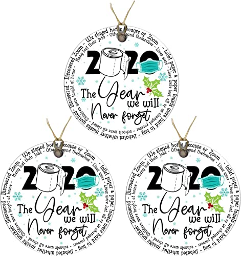 new arrival OPTIMISTIC 2020 Christmas Tree outlet sale Ornaments, Xmas online Tree Hanging Decoration Holiday Décor Double-Side Printed,Disc Wood Ornament,Toilet Paper Crisis - Personalized Christmas Decoration Quarantine Ornament outlet online sale