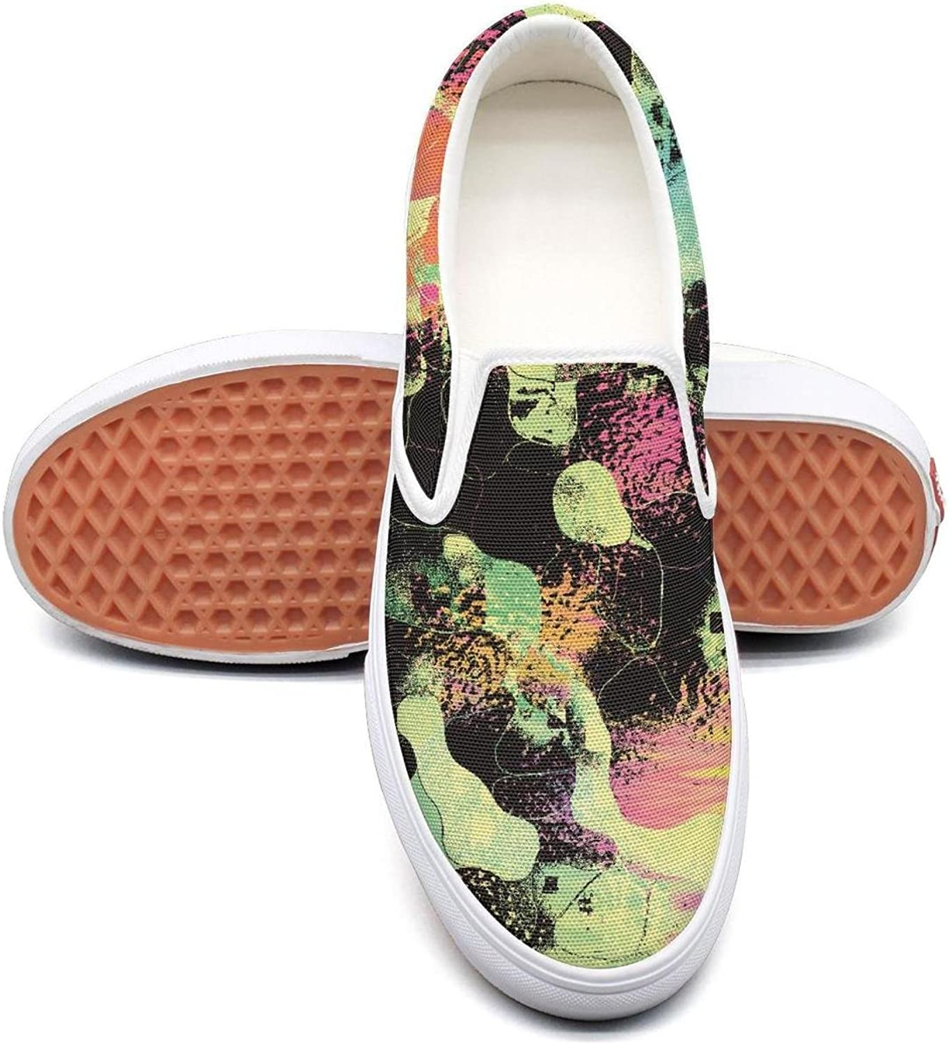 Lalige LSD Trippy Psychedelic Mirror Women Comfortable Canvas Slip-ONS Travel shoes