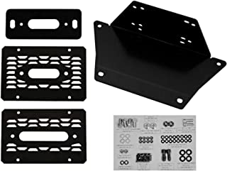 SuperATV Heavy Duty Winch Mounting Plate for Polaris Ranger XP 1000 / Crew (2017+)