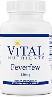 Vital Nutrients - Feverfew - Herbal Support for Cranial Blood Vessels - 90 Capsules per Bottle - 120 mg