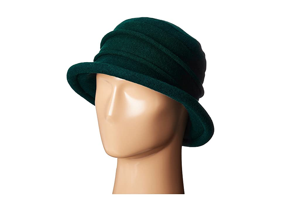 1930s Style Hats | 30s Ladies Hats SCALA Packable Wool Felt Cloche Teal Caps $27.50 AT vintagedancer.com