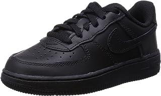 Nike Kid's Air Force 1 Low Preschool Basketball Shoes, Black/Black-Black 2.5Y