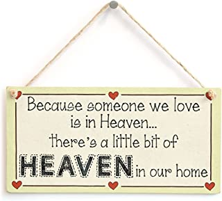 Meijiafei Because Someone we Love is in Heaven… There's a Little bit of Heaven in Our Home - Lovely Missing Loved Ones Sign 10