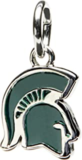 Michigan State Charm | MSU Spartans Charm Pendant | Officially Licensed MSU Jewelry | Michigan State Gift