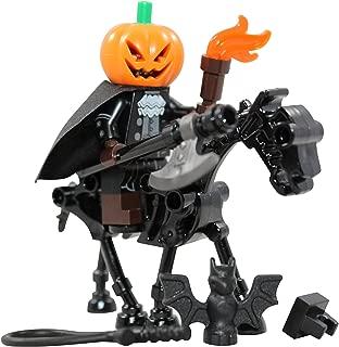 LEGO Halloween Headless Horseman + Skeleton Horse Toy - Custom Spooky Monster Minifigure (Legend of Sleepy Hollow)