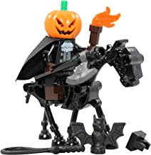 LEGO Halloween Headless Horseman + Skeleton Horse Toy - Custom Spooky Monster Minifigure (Legend of Sleepy Hollow)