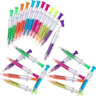 أقلام كيكو المحقنة - ألوان نيون متعددة - لعب التظاهري، ملابس الطبيب أو الممرضات - للأطفال، للاستخدام في المنزل والمدرسة، ل...
