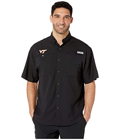 Columbia College Virginia Tech Hokies Collegiate Tamiamitm II Short Sleeve Shirt (Black) Men