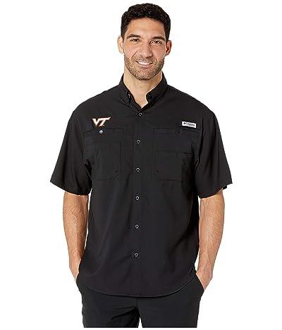 Columbia College Virginia Tech Hokies Collegiate Tamiami II Short Sleeve Shirt (Black) Men