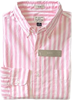 J Crew - Men's Slim Fit - Striped Secret Wash Cotton Shirt