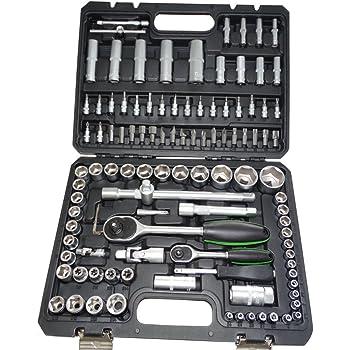 AERZETIX: Caja maletin 108 Piezas Llaves de Vaso, de carraca 1/2 1/4 Puntas de Destornillador 6 Lados Allen torx PH PZ C17098: Amazon.es: Bricolaje y herramientas