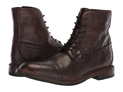 Frye Murray Lace-Up (Brown Washed Dip-Dye Leather) Men