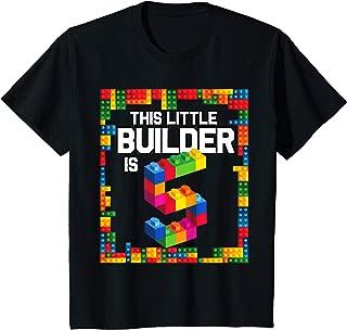 Kids 5 Year Old Building Blocks Birthday T Shirt Brick 5th Gift